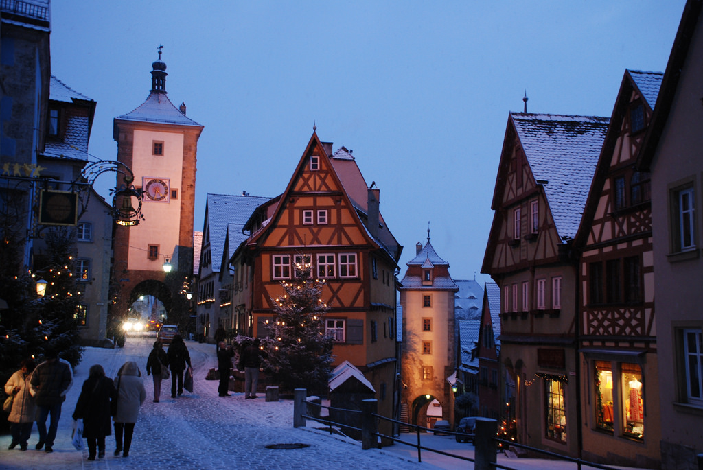 Rothenburg ob der Tauber talvella, Saksa. Kuva: Traveljunction.com, Flickr.com